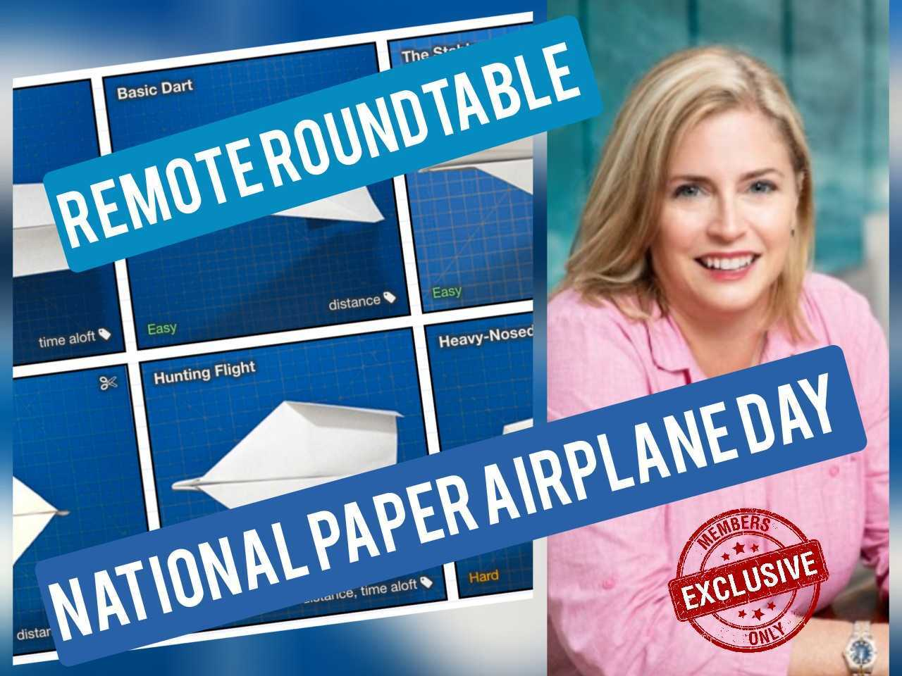 Remote Rountable - National Paper Airplanes